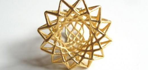3d printed golden ring