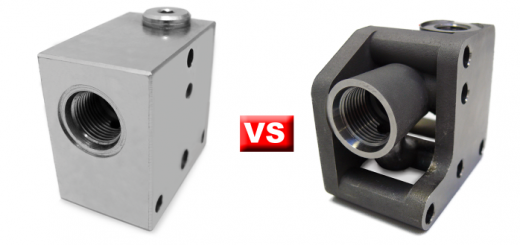 comparison with machining valve 1