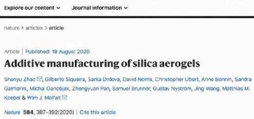 silica aerogels_Nature_1